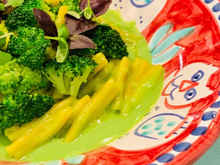 Dolce Vitality Recipe Yellow Lentil Pasta With Broccoli
